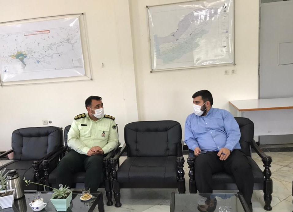 دیدار مدیر امور منابع آب شهرستان گرگان با رئیس پلیس آگاهی گرگان